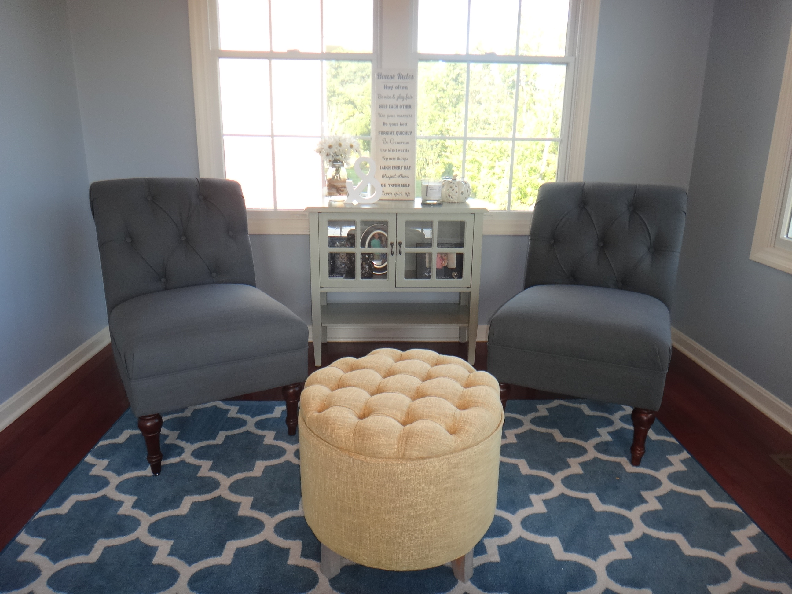 Its Important To Stay Flexible When Looking For Furniture I Originally Planned On Incorporating A Pattern With The Two Accent Chairs But Couldnt Find