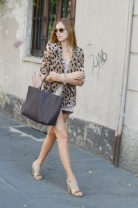 LeopardMeshBlazer
